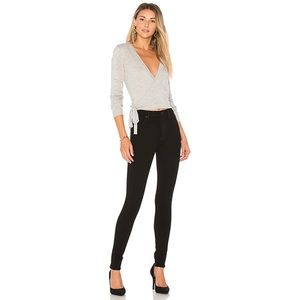 Hudson Barbara High Rise Supper Skinny Black Jeans